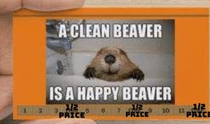 Happy Beaver Punch Card